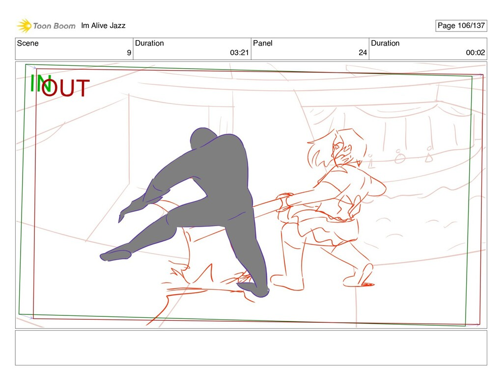 Scene 9 Duration 03:21 Panel 24 Duration 00:02 ...
