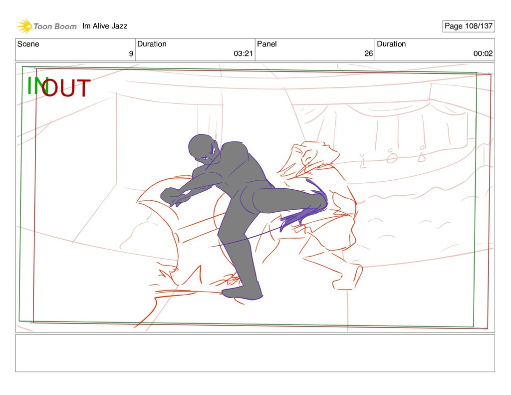 Scene 9 Duration 03:21 Panel 26 Duration 00:02 ...