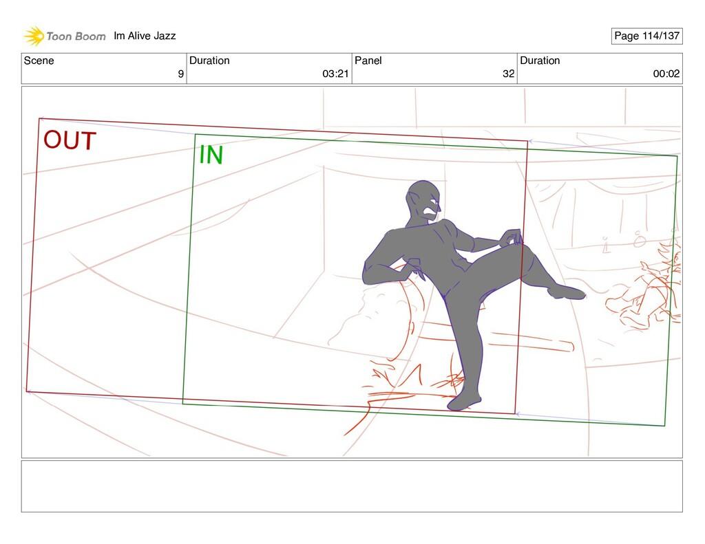 Scene 9 Duration 03:21 Panel 32 Duration 00:02 ...