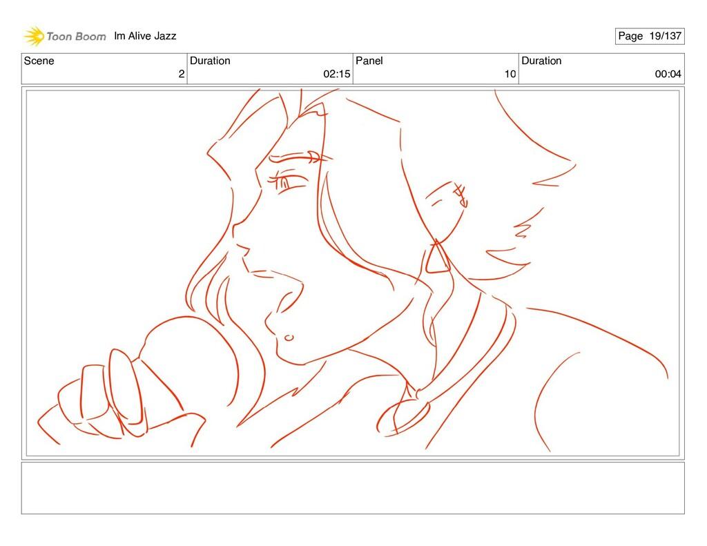 Scene 2 Duration 02:15 Panel 10 Duration 00:04 ...