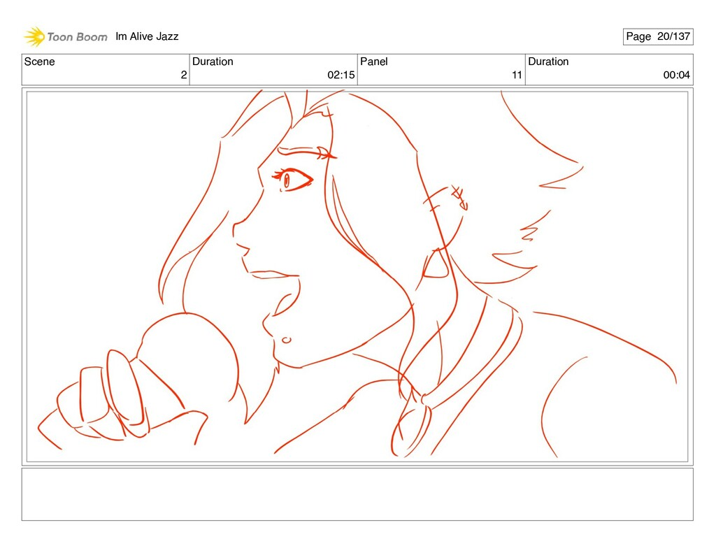 Scene 2 Duration 02:15 Panel 11 Duration 00:04 ...