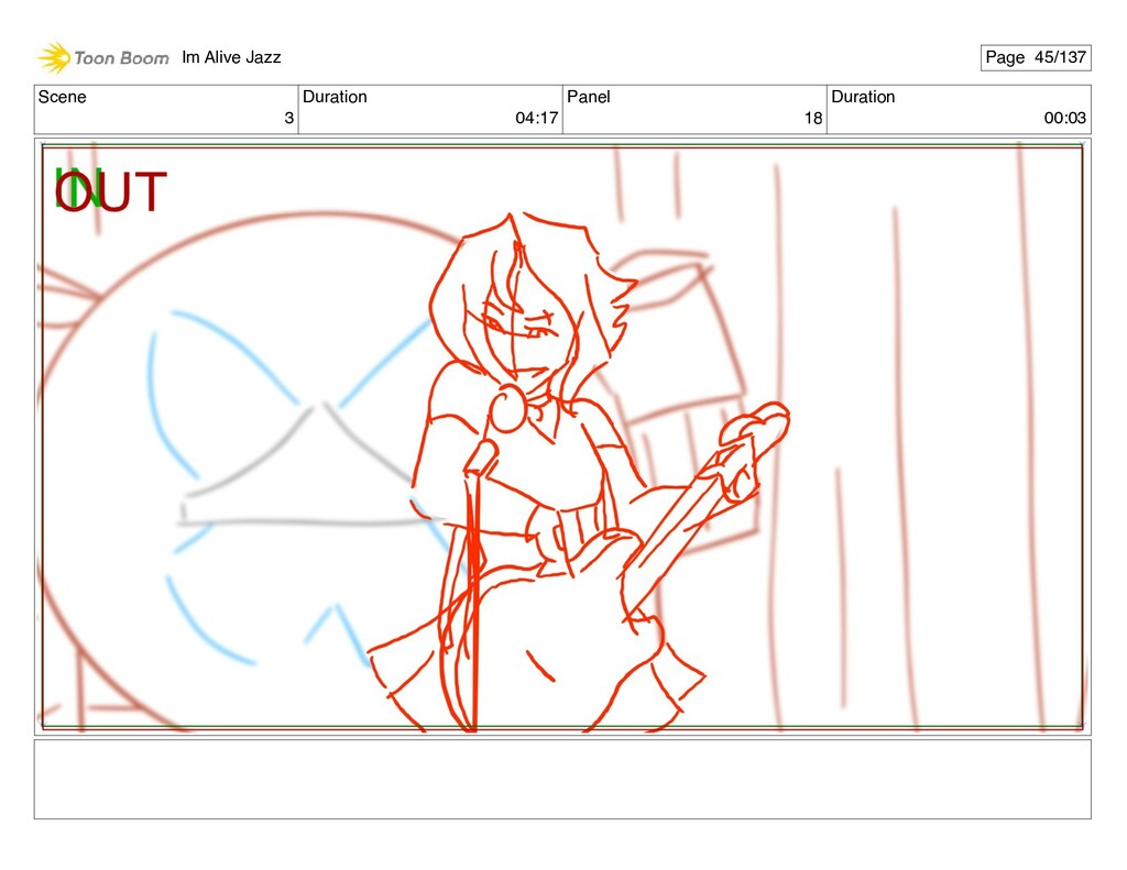 Scene 3 Duration 04:17 Panel 18 Duration 00:03 ...