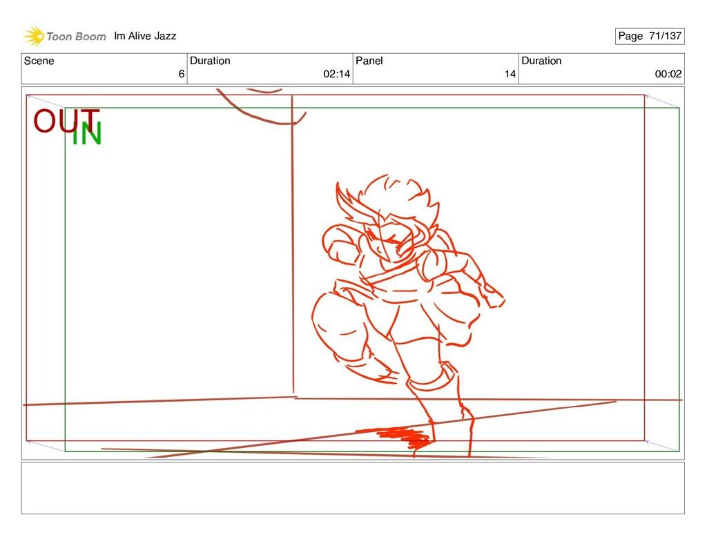 Scene 6 Duration 02:14 Panel 14 Duration 00:02 ...