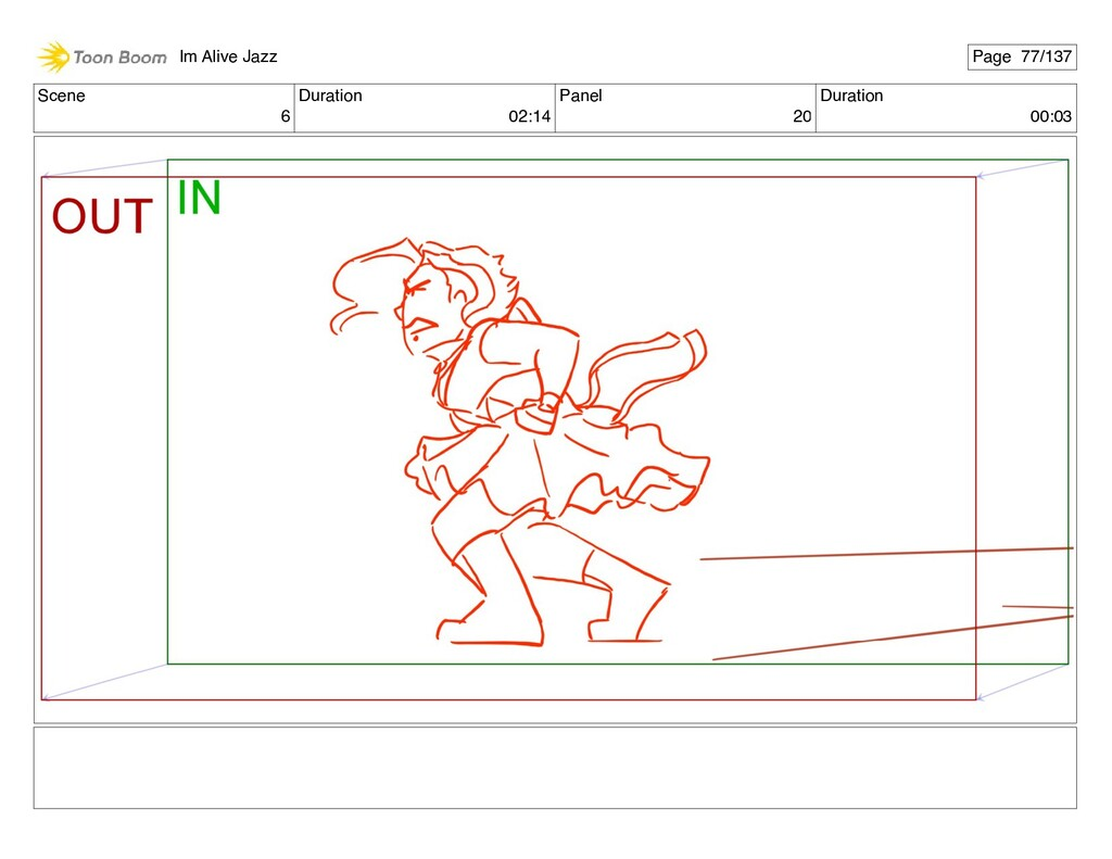 Scene 6 Duration 02:14 Panel 20 Duration 00:03 ...