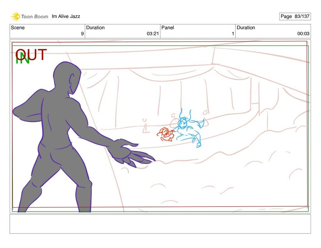 Scene 9 Duration 03:21 Panel 1 Duration 00:03 I...