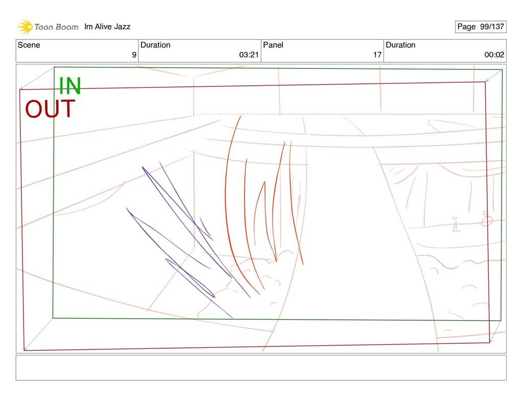 Scene 9 Duration 03:21 Panel 17 Duration 00:02 ...