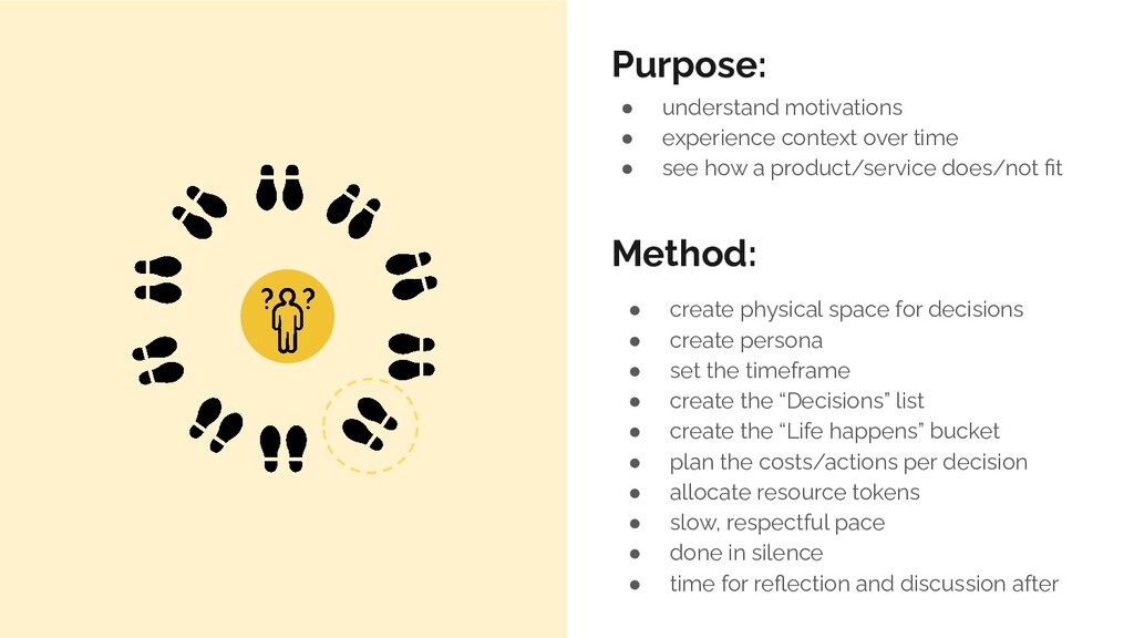 ● create physical space for decisions ● create ...