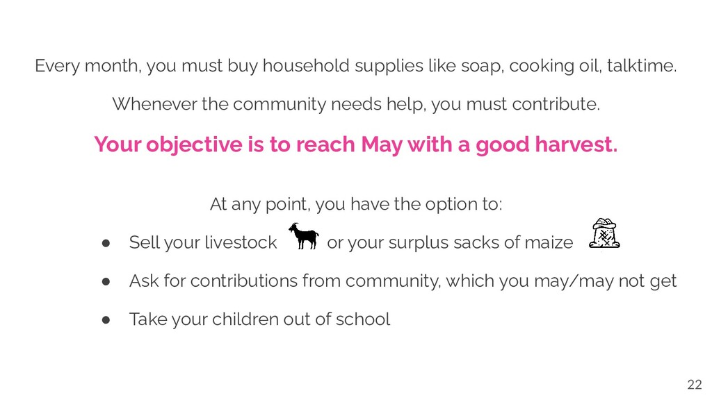 Every month, you must buy household supplies li...