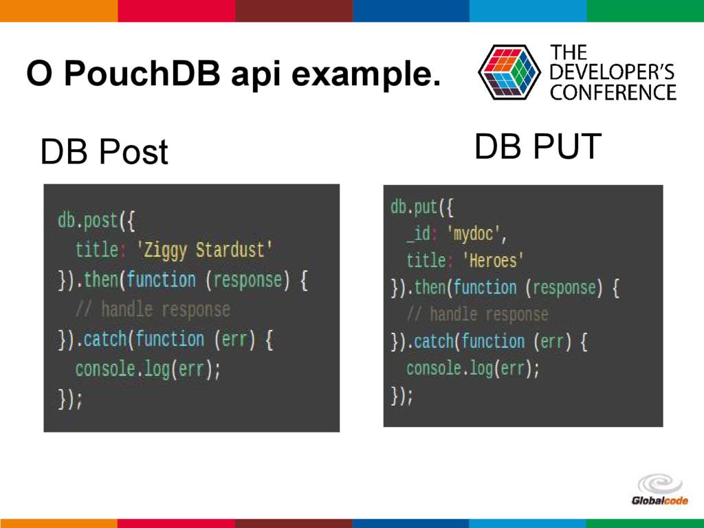 pen4education O PouchDB api example. DB Post DB...