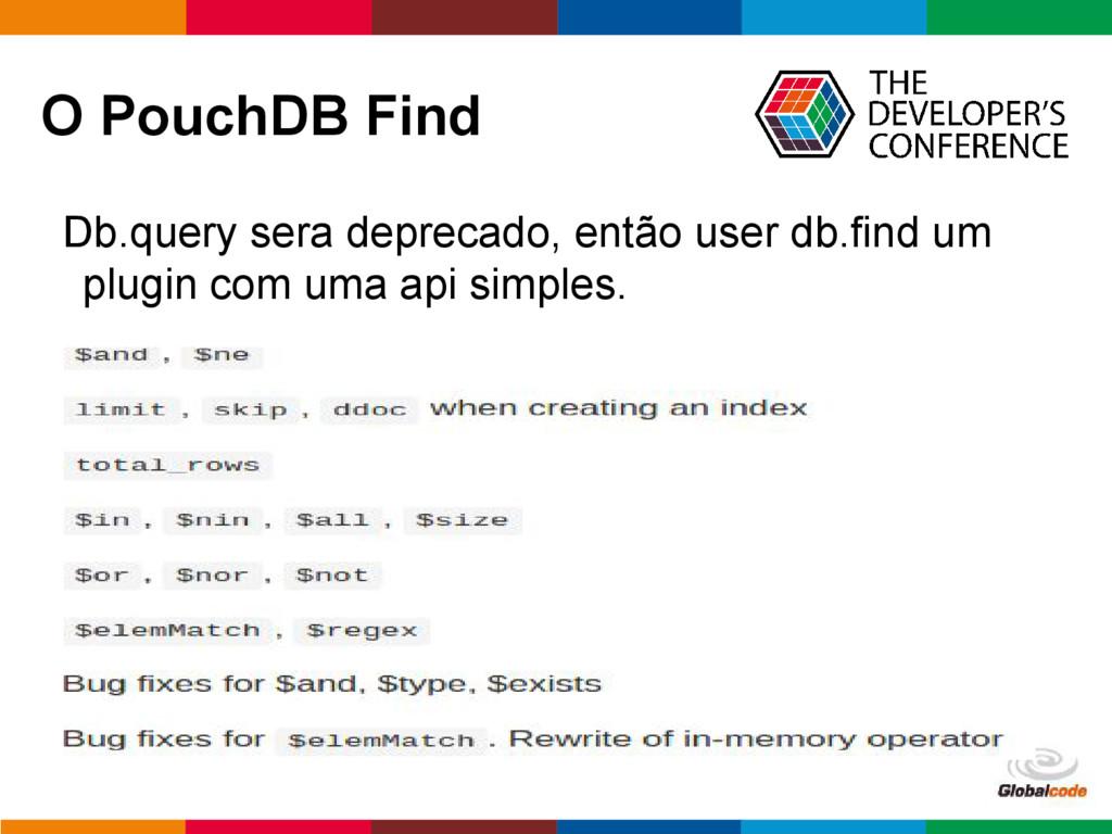 pen4education O PouchDB Find Db.query sera depr...