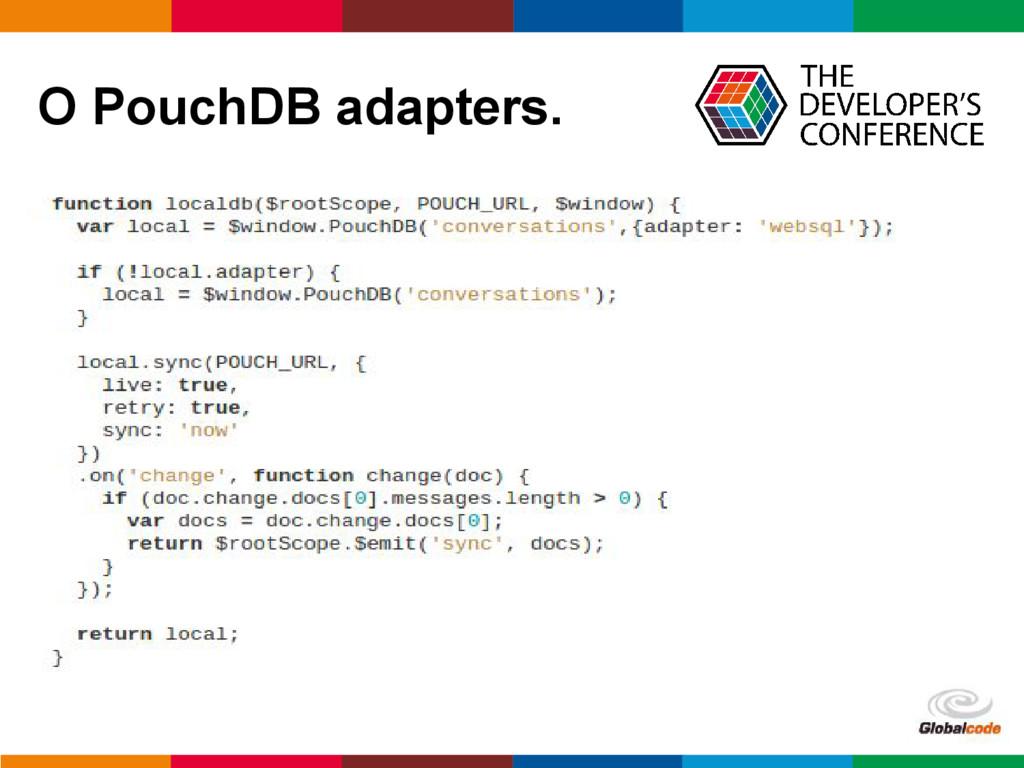 pen4education O PouchDB adapters.