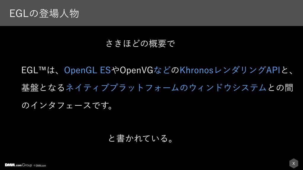 X © DMM.com &(-ͷొਓ &(-äɺ0QFO(-&40QFO7(ͳͲͷ,...