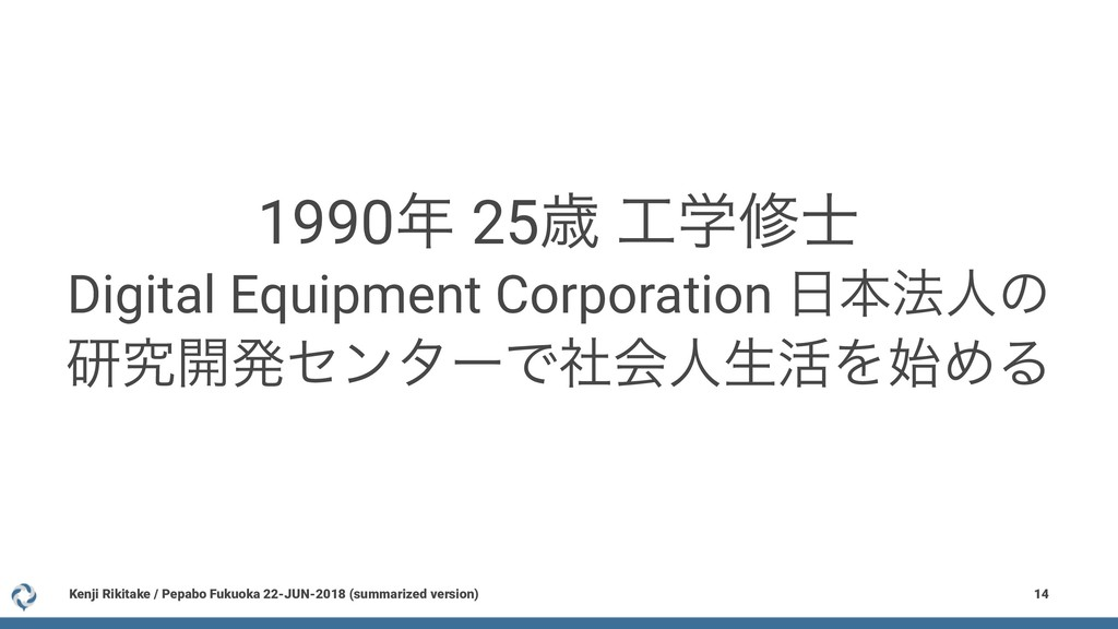 1990೥ 25ࡀ ޻ֶम࢜ Digital Equipment Corporation ೔ຊ...