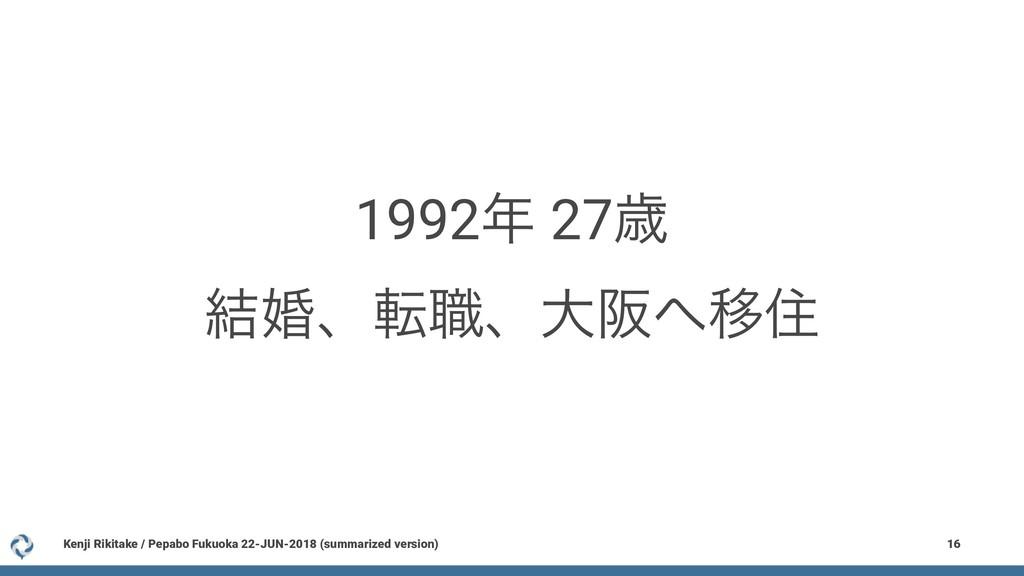 1992 27ࡀ ݁ࠗɺస৬ɺେࡕҠॅ Kenji Rikitake / Pepabo F...