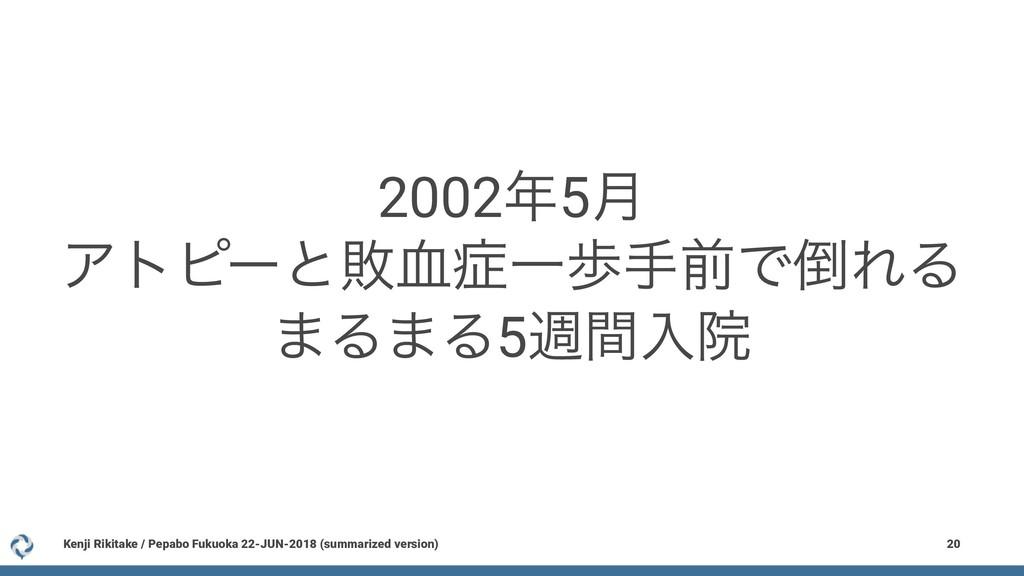 20025݄ Ξτϐʔͱഊ݂ҰาखલͰΕΔ ·Δ·Δ5िؒೖӃ Kenji Rikita...