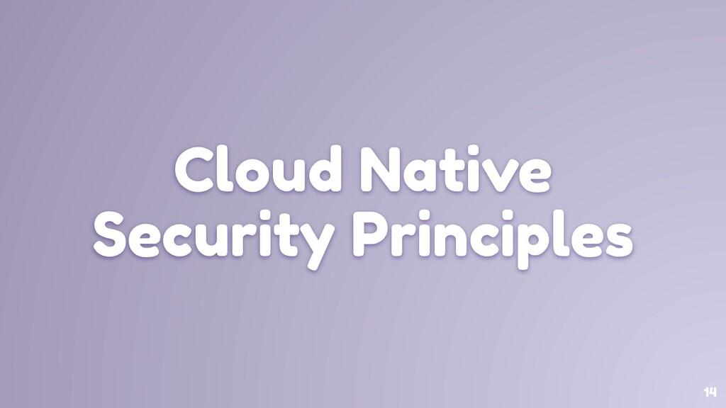 14 Cloud Native Security Principles