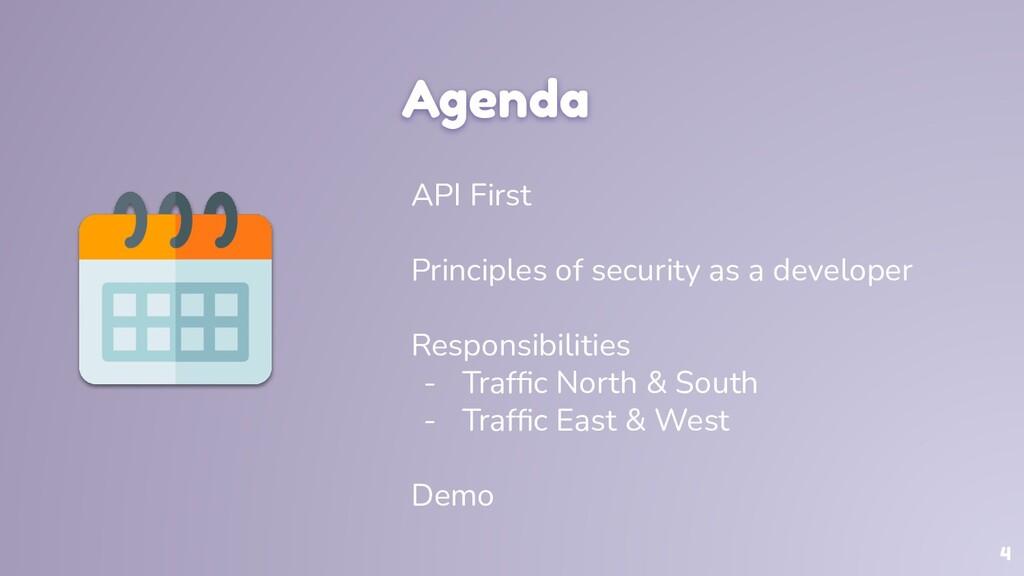 Agenda API First Principles of security as a de...