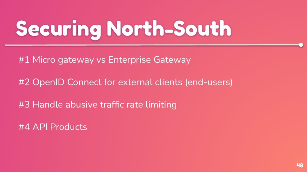 48 Securing North-South #1 Micro gateway vs Ent...