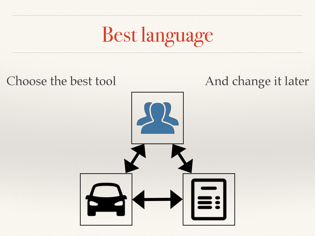 Best language Choose the best tool And change i...
