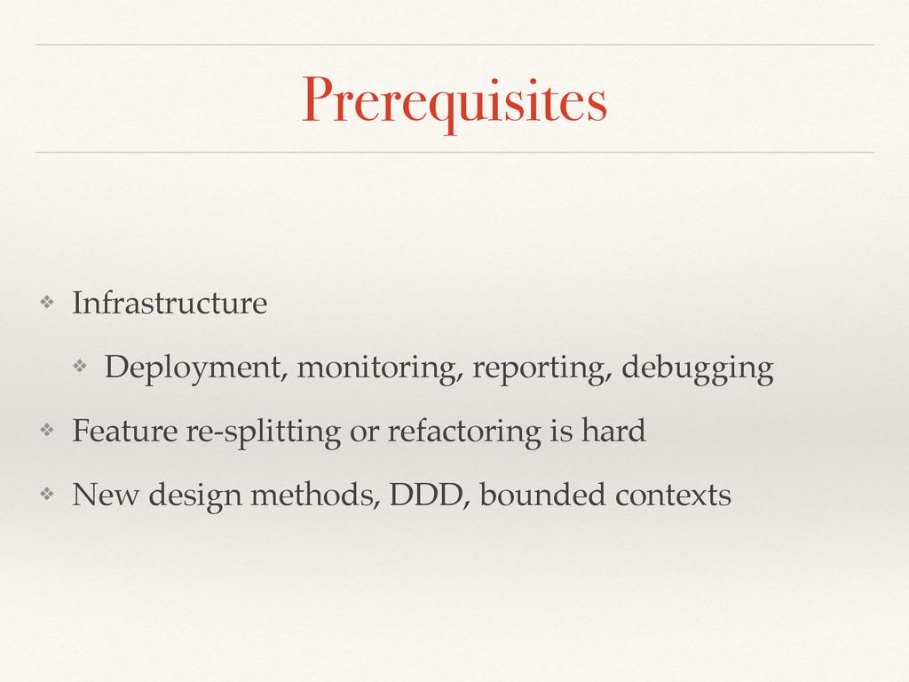 Prerequisites ❖ Infrastructure ❖ Deployment, mo...
