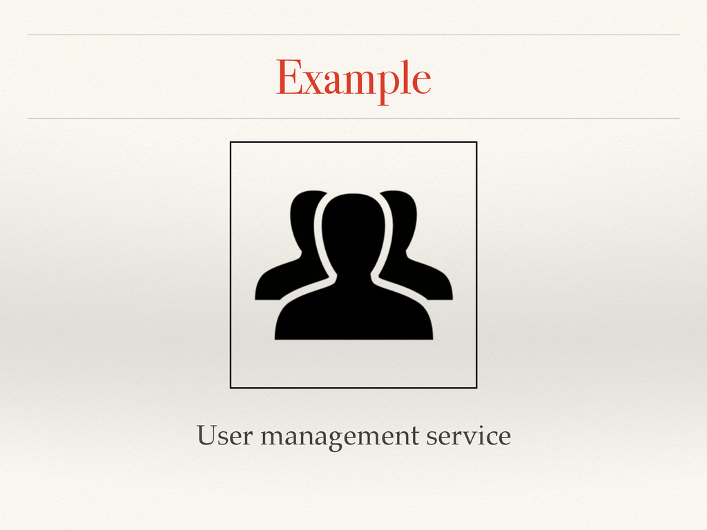 Example User management service