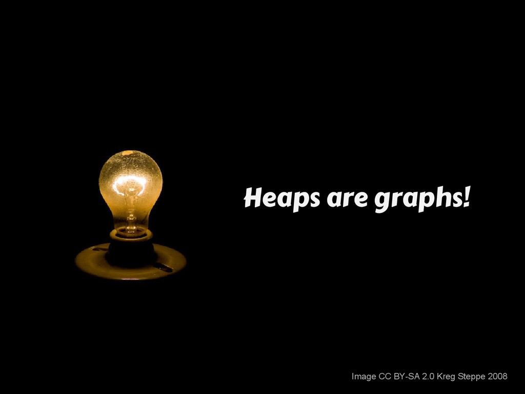 Heaps are graphs! Image CC BY-SA 2.0 Kreg Stepp...