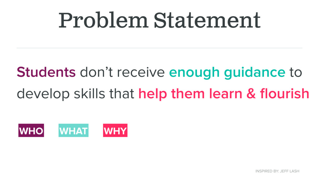 Problem Statement Students don't receive enough...