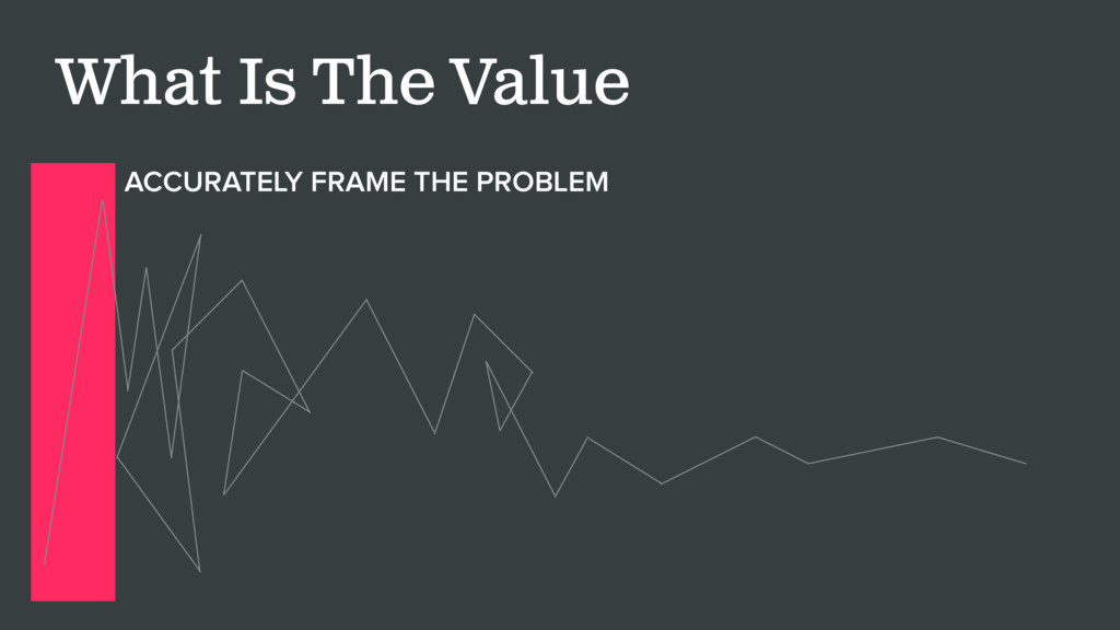 What Is The Value ACCURATELY FRAME THE PROBLEM