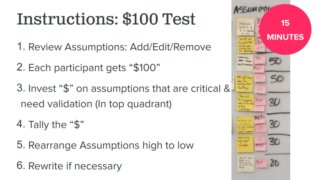 Instructions: $100 Test 1. Review Assumptions: ...