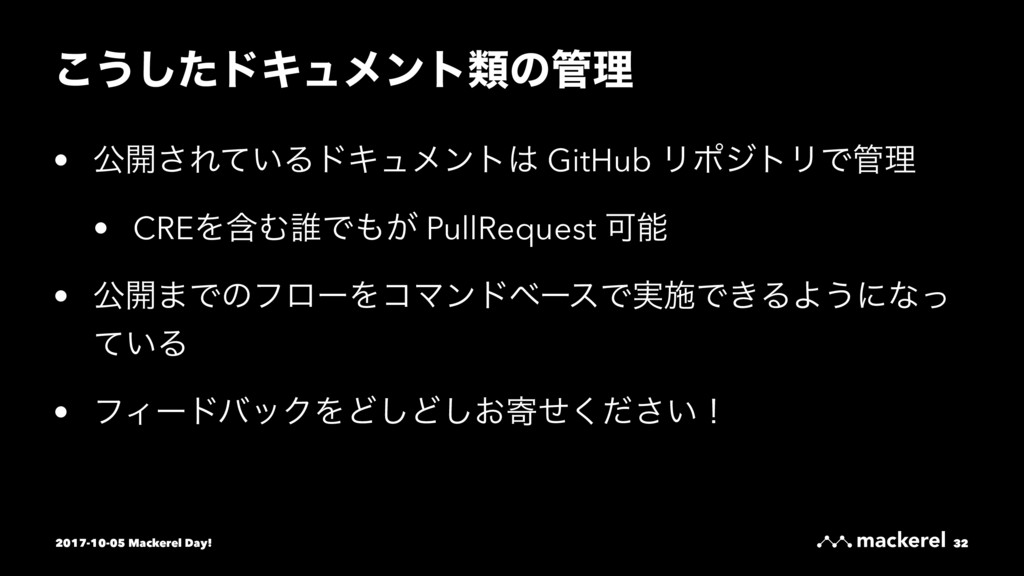 ͜͏ͨ͠υΩϡϝϯτྨͷཧ • ެ։͞Ε͍ͯΔυΩϡϝϯτ GitHub ϦϙδτϦͰཧ...