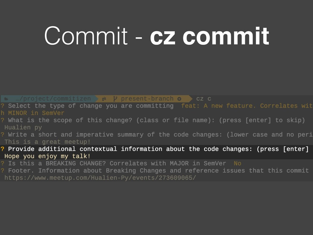 Commit - cz commit