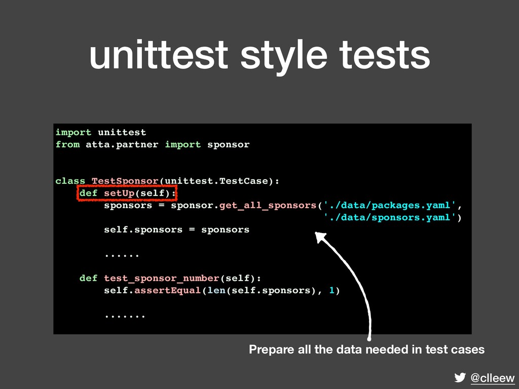 @clleew unittest style tests import unittest fr...