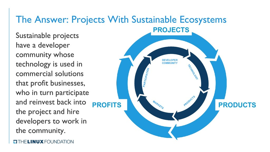 The Answer: Projects With Sustainable Ecosystem...