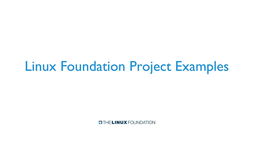 Linux Foundation Project Examples