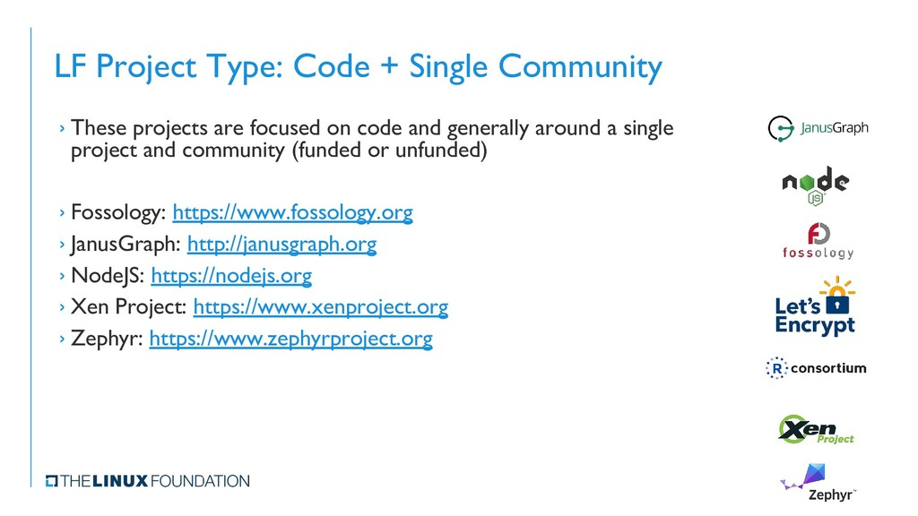 LF Project Type: Code + Single Community › Thes...