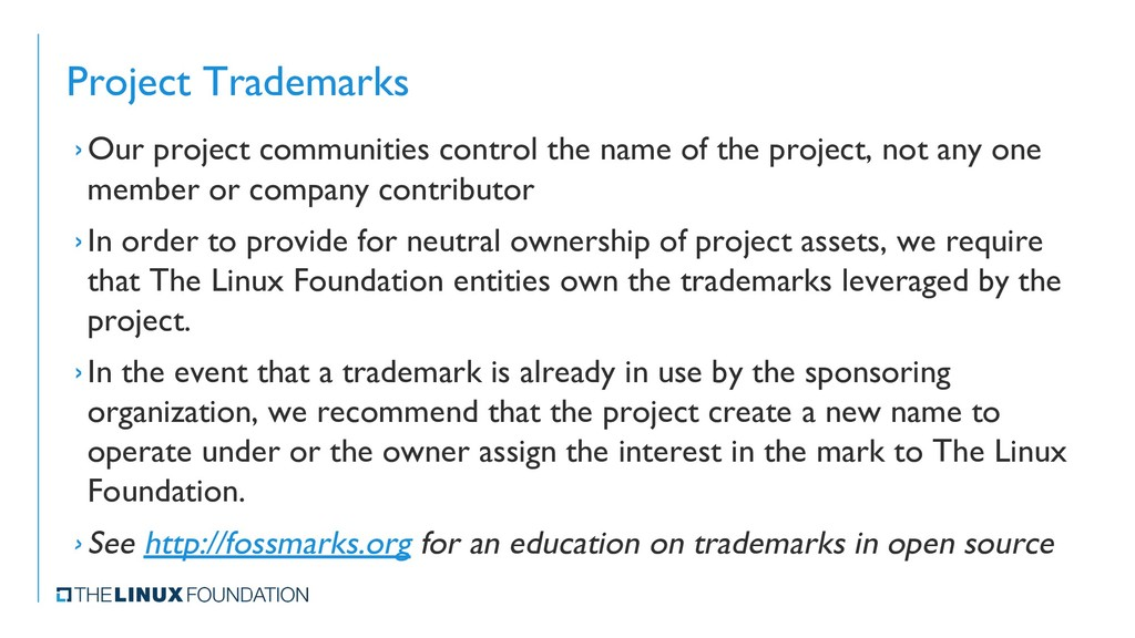 Project Trademarks ›Our project communities con...