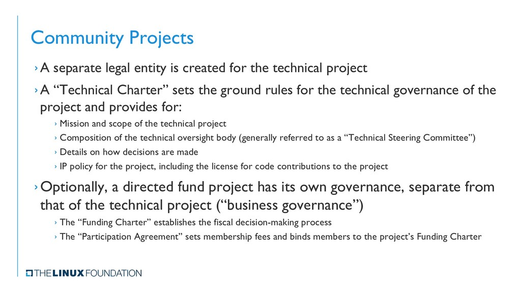 Community Projects › A separate legal entity is...