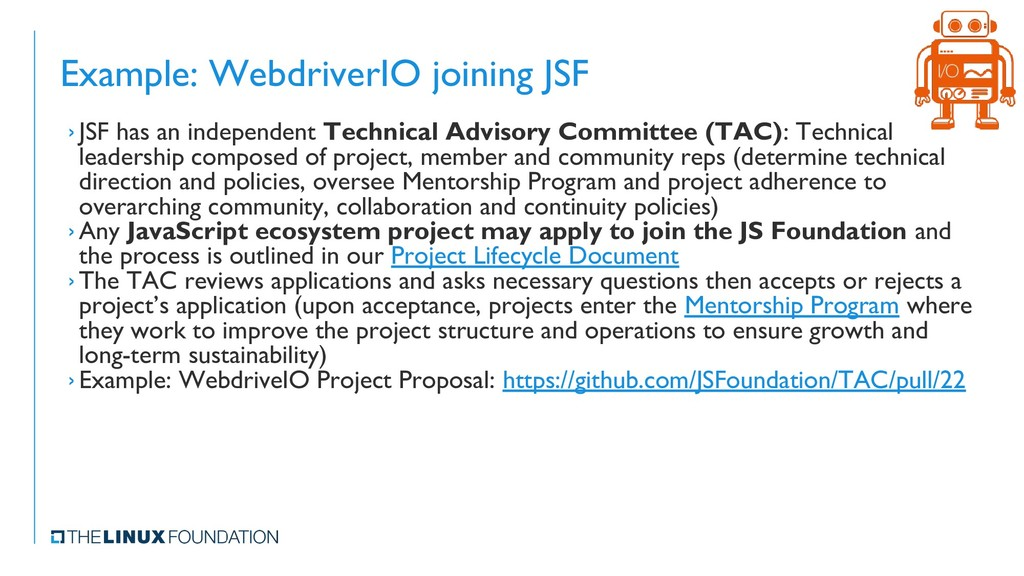 Example: WebdriverIO joining JSF › JSF has an i...