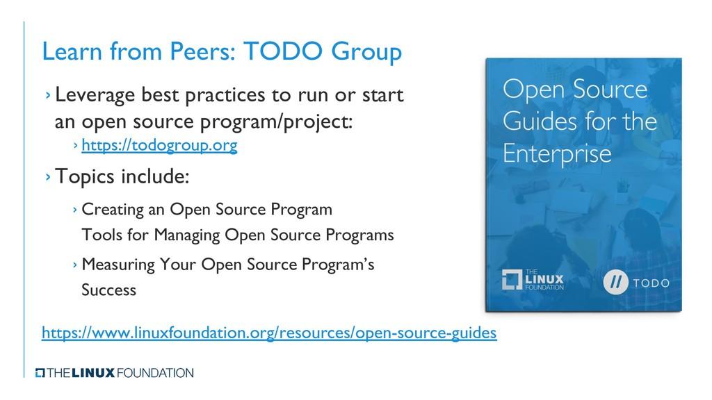 Learn from Peers: TODO Group › Leverage best pr...
