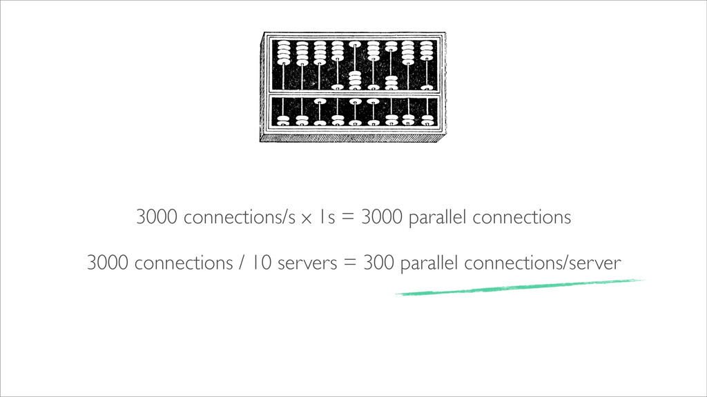 3000 connections/s x 1s = 3000 parallel connect...