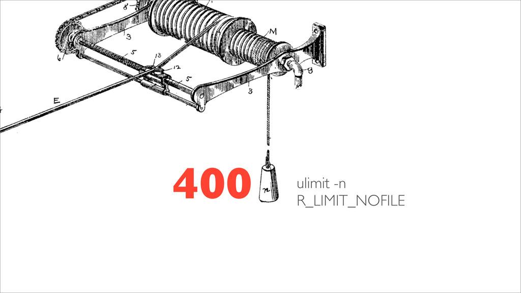 400 ulimit -n R_LIMIT_NOFILE