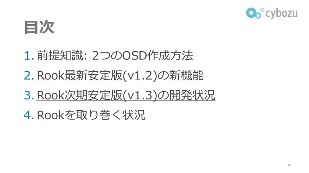 目次 1. 前提知識: 2つのOSD作成方法 2. Rook最新安定版(v1.2)の新機能 3...