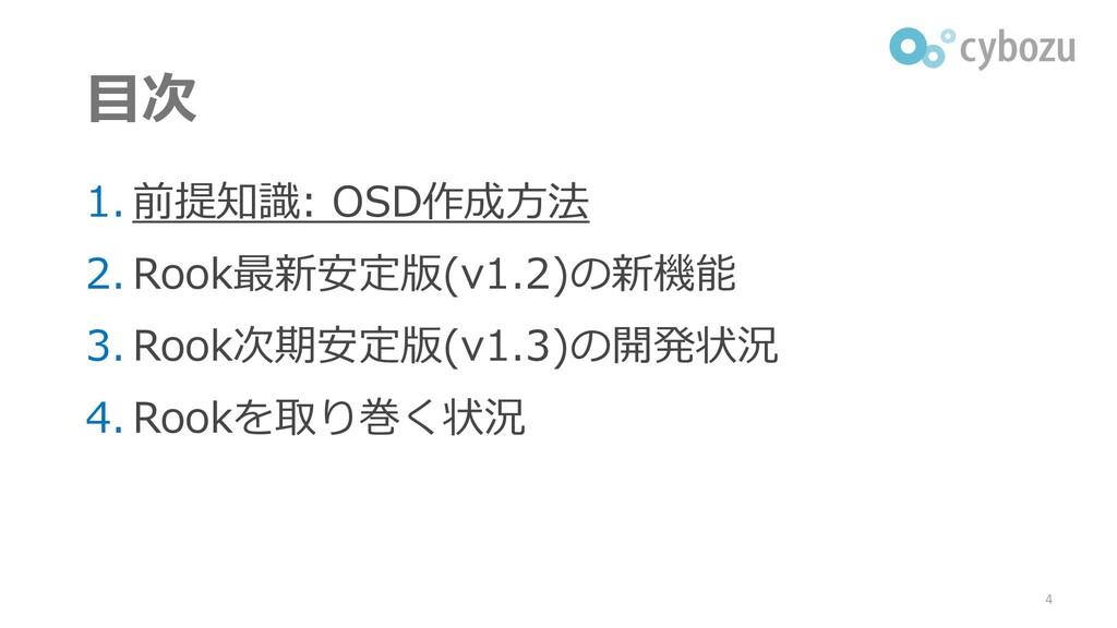 目次 1. 前提知識: OSD作成方法 2. Rook最新安定版(v1.2)の新機能 3. R...