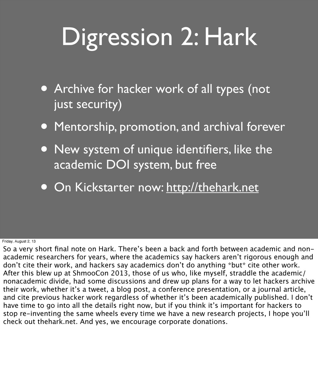Digression 2: Hark • Archive for hacker work of...