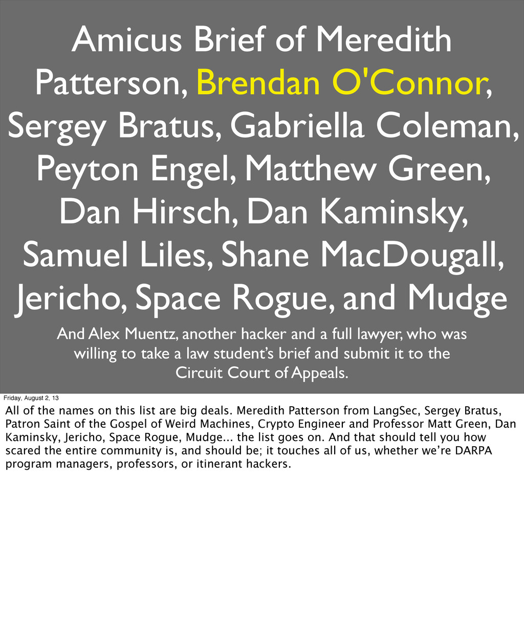 Amicus Brief of Meredith Patterson, Brendan O'C...