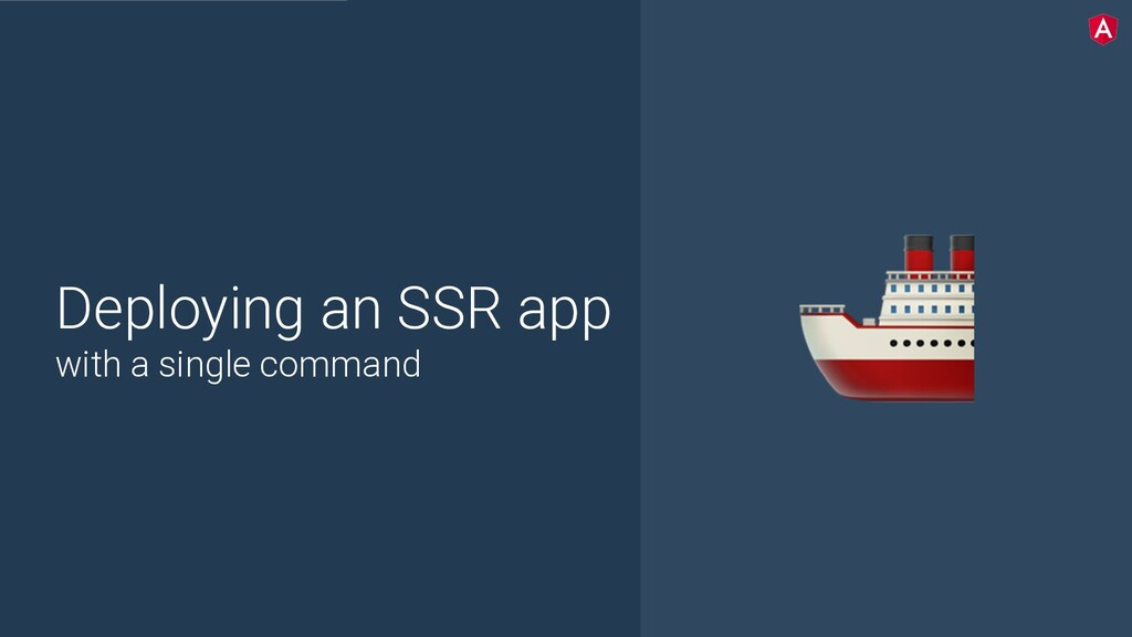 @yourtwitter Deploying an SSR app with a single...