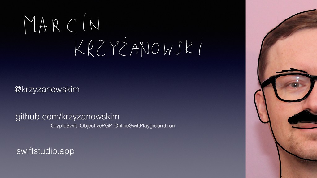 @krzyzanowskim github.com/krzyzanowskim CryptoS...