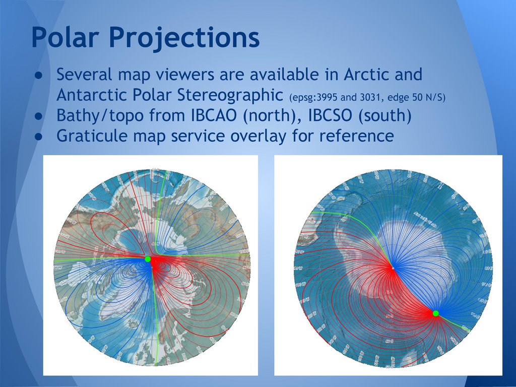 ● Several map viewers are available in Arctic a...