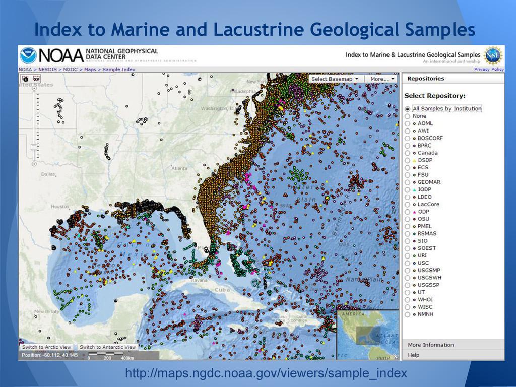 ● Aeromagnetic data over Antarctica Index to Ma...