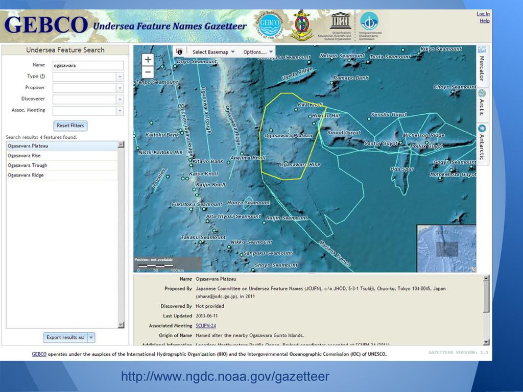 http://www.ngdc.noaa.gov/gazetteer